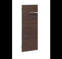 Porte pleine basse pour bibliothèque - XENON - L44 cm - Finition chêne/blanc