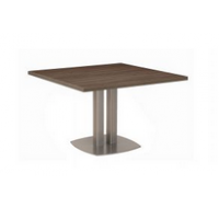 Table carrée - XENON - L115 cm - Finition chêne/blanc
