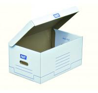 5 caisses d'archivage - FAST - Blanc/bleu