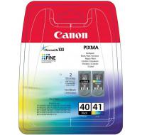 Pack de 2 cartouches d'encre PG 40 et CL41 - CANON - Noir et couleurs