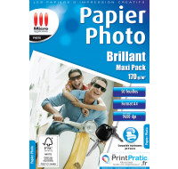 50 Feuilles papier photo A4 - MICRO APPLICATION  - 170g