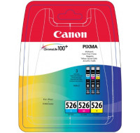 Pack 3 cartouches CANON CLI526 - 3 couleurs