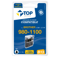 Cartouche d'encre compatible BROTHER LC980 / LC1100 - TOP OFFICE - Noir