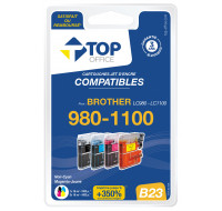 Pack cartouches d'encre compatible BROTHER LC980 / LC1100 – 4 couleurs