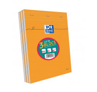 Lot 2+1 Blocs feuilles - OXFORD - A4 - 160 pages - 5x5