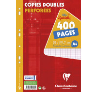 400 pages copies doubles A4 21x29,7 cm - CLAIREFONTAINE - Grands carreaux