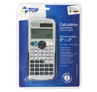 Calculatrice scientifique CS-12 plus - TOP OFFICE - Spécial collège