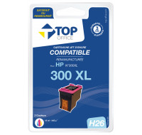 Cartouche d'encre compatible HP : 300 XL - TOP OFFICE - Couleurs