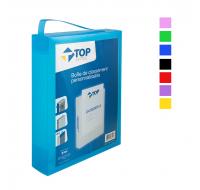 Boîte de classement personnalisable - TOP OFFICE - Dos 60 mm - 24 x 32 cm - Assortiment de couleurs
