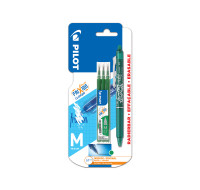 Stylo roller Frixion ball + 3 recharges - PILOT - Vert