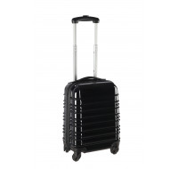 Valise ABS 50cm - Rayures noires