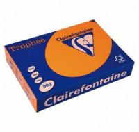 Caisse de 5 ramettes 500 feuilles A4 - CLAIREFONTAINE - 80 g - Orange vif