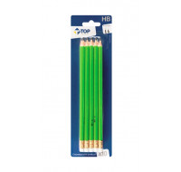 Lot de 10 crayons graphite - TOP OFFICE - Embout gomme