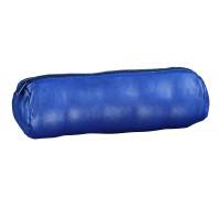 Trousse scolaire ronde - ELBA - 1 compartiment - Cuir - Bleu marine