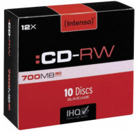 Pack de 10 CD-R 12X - INTENSO - 700 mB