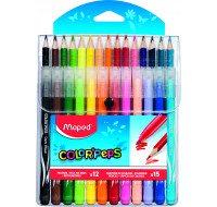 Lot de 12 feutres + 15 crayons de couleur Color'Peps - MAPED