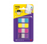 Lot de marque-pages - POST-IT - 15,8 x 38 mm - 4 couleurs