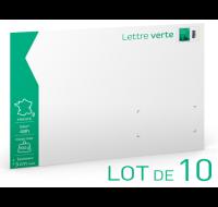 Lot de 10 enveloppes lettre verte prêt-à-poster - LA POSTE - 100g