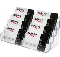 Porte cartes de visite 8 compartiments - DEFLECTO - Transparent