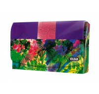 Porte cartes Miss Jungle - ELBA - 90x55 mm - Violet