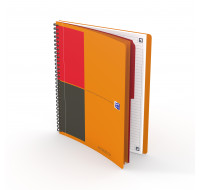 Carnet connecté Activebook - OXFORD INTERNATIONAL - Petits carreaux - Format B5 - 160 pages - Orange