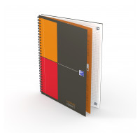 Carnet Notebook Connect - OXFORD INTERNATIONAL - Petits carreaux - Format B5 - 160 pages - Noir