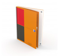 Carnet ligné Notebook Connect - OXFORD INTERNATIONAL - Format B5 - 160 pages - Orange