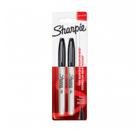 Lot de 2 marqueurs permanents - SHARPIE - Pointe fine - Noir