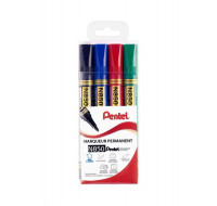 Lot de 4 marqueurs permanents N850 - PENTEL - 4 couleurs