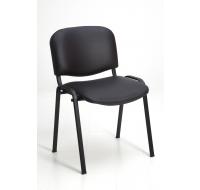 Chaise de réunion - PVC - Noir