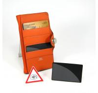 Lot de 2 portes cartes de crédit anti RFID - KOKOON - Noir