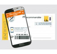 Lot de 5 enveloppes pré-affranchies en recommandé avec accusé de réception mobile - LA POSTE - 20g