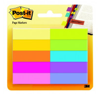 Lot de 500 marque-pages - POST-IT - 12,7x44,4 mm - 10 coloris