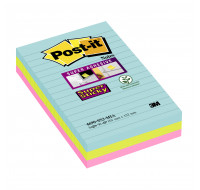 Lot de 3 supers blocs post-it lignés - POST-IT - 101x152 mm - Miami