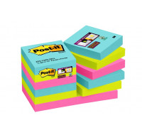 Lot de 12 blocs Super sticky - POST-IT - 51x51 mm