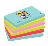 Lot de 6 supers blocs post-it - POST-IT - 76x127 mm - Miami