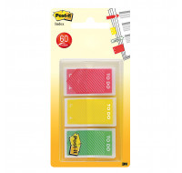 Lot de 60 marque-pages post-it - POST-IT - 23,8x43,1 mm - 3 couleurs