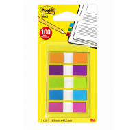 Mini post-it marque-pages - POST-IT - 11,9 x 43,2 mm - Couleurs vives
