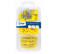 Kit de 58 attaches - TOP OFFICE - Jaune