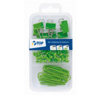 Kit de 58 attaches - TOP OFFICE - Vert