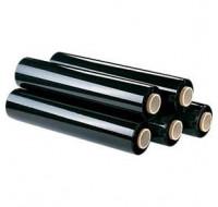 6 rouleaux de film étirable noir - 300 m x 45 cm