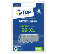 Pack de 4 cartouches d'encre compatibles Epson 29 XL - TOP OFFICE - E51
