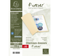 Lot de 50 chemises Forever 24 x 32 cm - EXACOMPTA - Orange - 24 x 32 cm