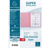 Lot de 100 sous chemises Super 60 22 x 31 cm - EXACOMPTA - Bleu
