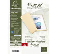 Lot de 50 chemises Forever 24 x 32 cm - EXACOMPTA - Jaune