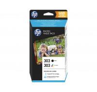 Pack cartouches d'encre HP 303 (Z4B62EE) + Papier photo - Noir et couleurs