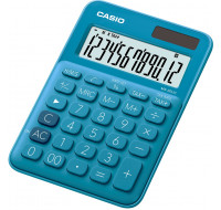 Calculatrice format mini de bureau MS20UC - CASIO - Bleue