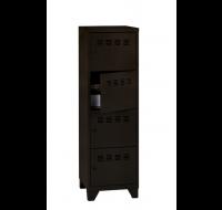 Casier multicase 4 portes - Métal - Noir