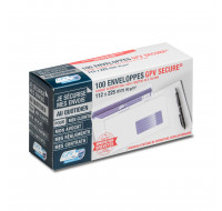 Boîte de 100 enveloppes blanches à fenêtres Secure - GPV -  DL+ - 112 X 225mm