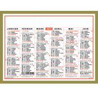Calendrier annuel 2021 - OBERTHUR - 21 x 27 - Classic